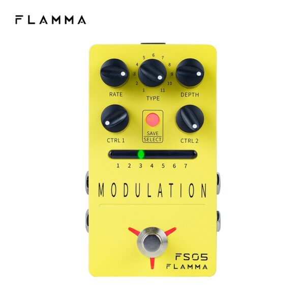 FLAMMA FS05 Stereo Modulation Guitar Pedal with 11 Modulation Effects