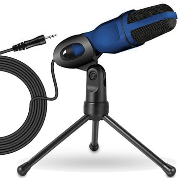 Condenser Microphone 3.5mm Plug Desktop Tripod for PC YouTube Video