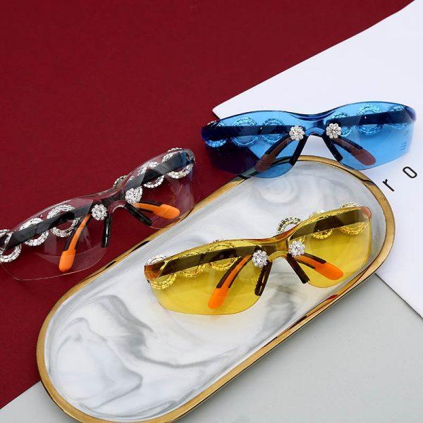 Crystal Sunglasses Womens Mens Fashionb UV Protection