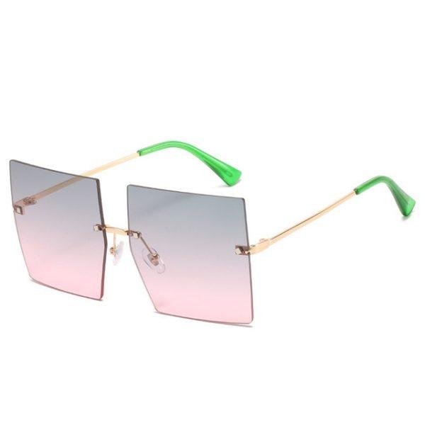 Trendy Oversized Square Sunglasses Women Very Sexy