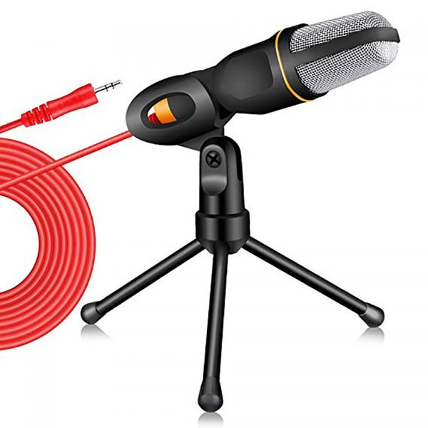 Condenser Microphone 3.5mm Plug Desktop Tripod for PC YouTube Video