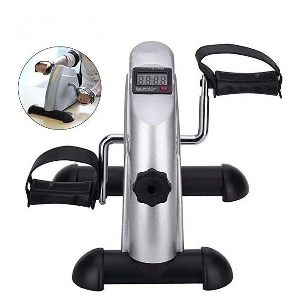 LCD Display Portable Pedal Bike Hands And Feet Trainer Mini Pedal Exercise Bike