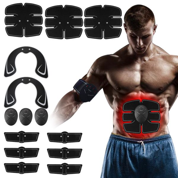 14pcs Muscle Training Gear Hip Buttocks Lifting ABS Fitness Trainer Stimulator