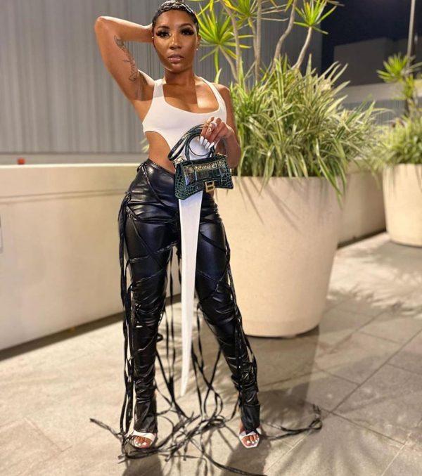 Casual Women PU Leather Pants Drawstring High Waist Streetwear