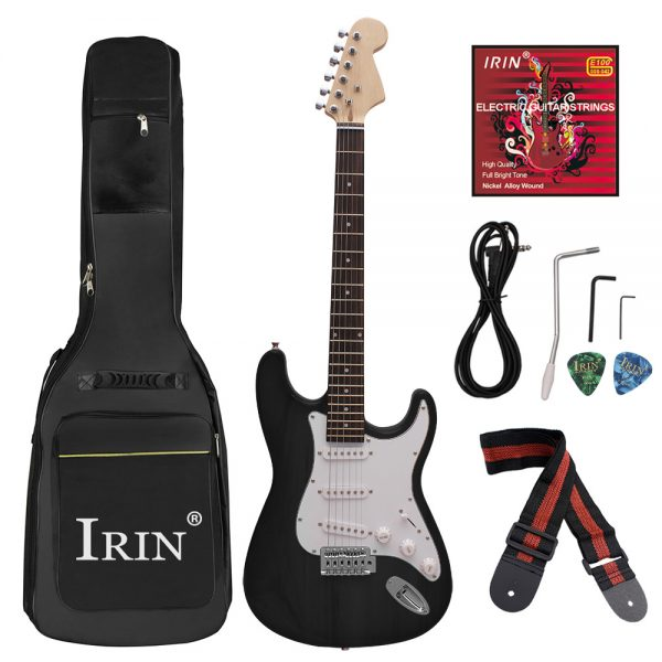 Electric Guitar Kit with Guitar Bag,Strings,Rocker,Wrench,Picks,Strap,Cable for Beginner