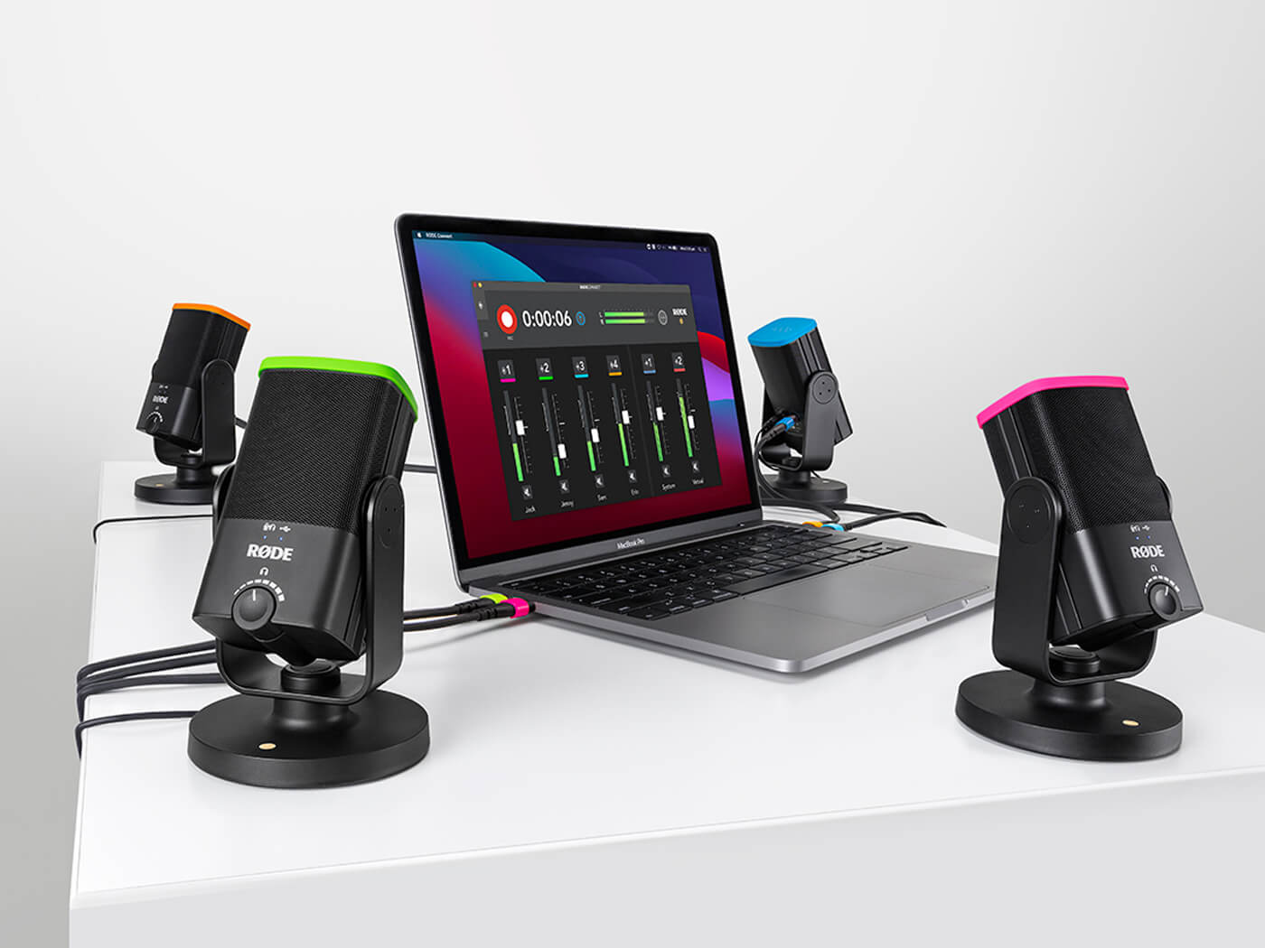 Røde Connect lets you run four NT-USB Minis at once on one computer