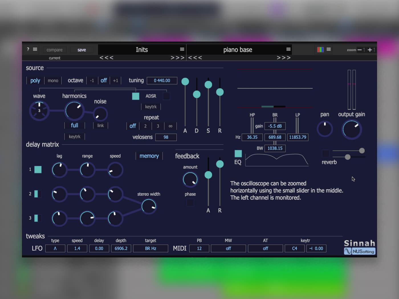 Freeware Tutorial: Ambient pads with feedback using Sinnah