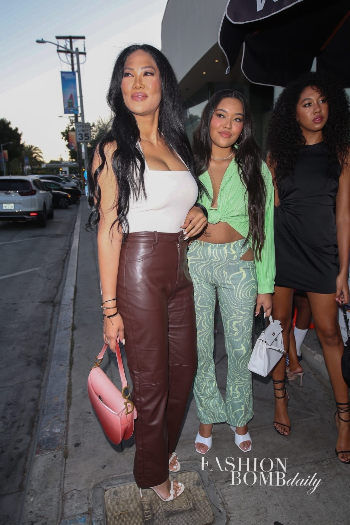 Kimora Lee Simmons Spied with Ming and Aoki Lee Simmons Wearing Pink Dior, Neon Boohoo Plisse Top, and More!