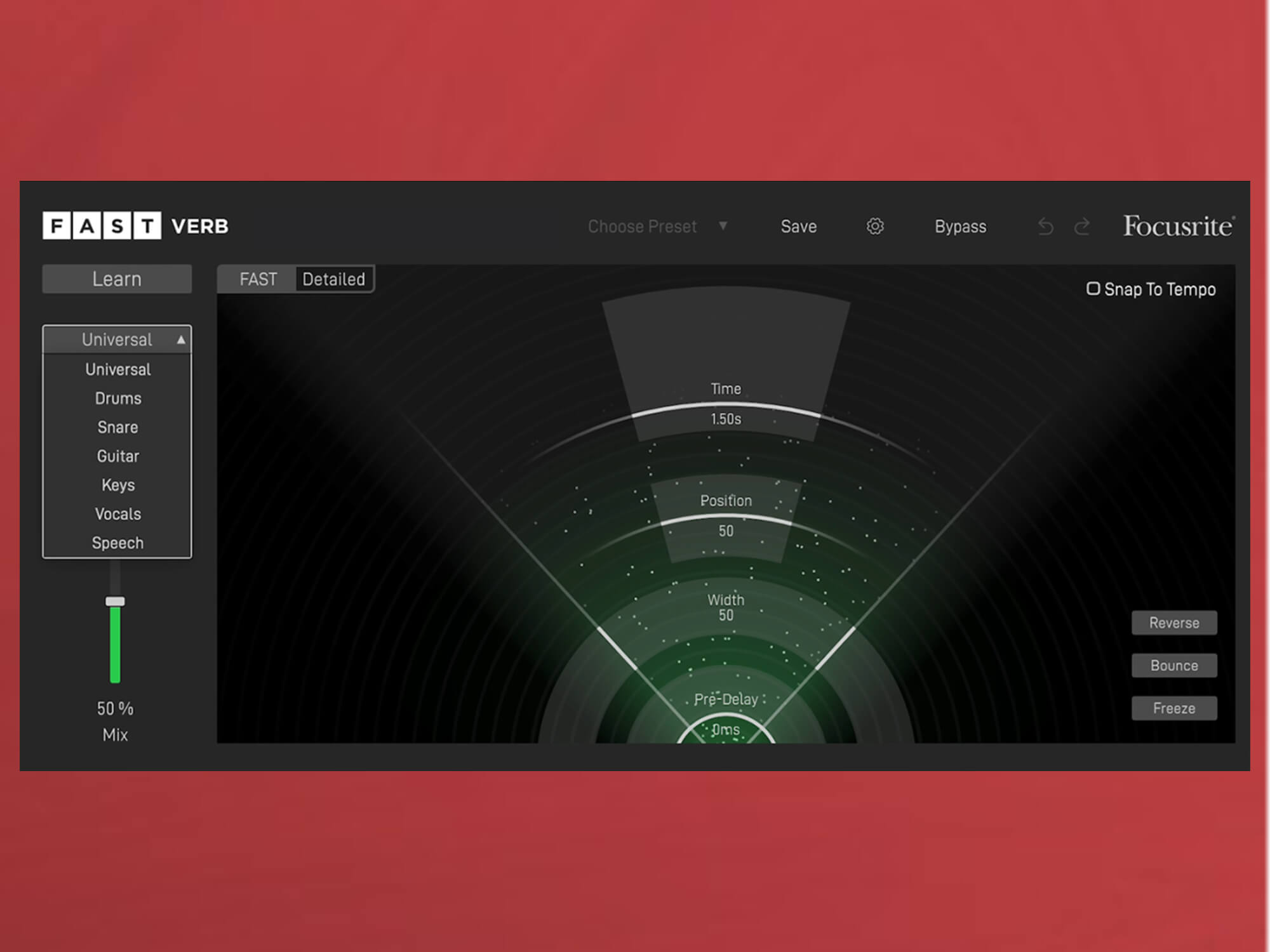 Focusrite's AI-powered FAST Verb analyses your audio to generate the ideal reverb